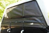 Automatisch oprolbaar gaasdoek achterzijde